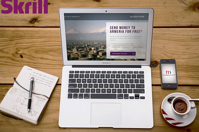 Armenian Clients Of Mobidram Can Transfer Money Via Skrill Without Paying Commission